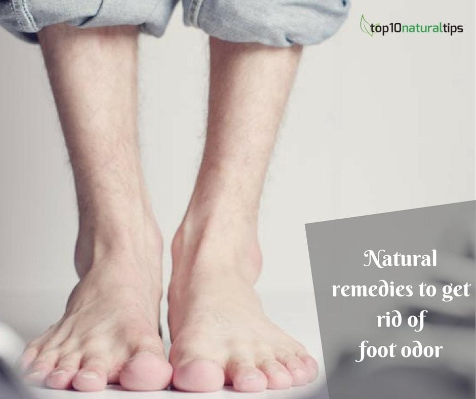 Get rid of foot odor naturally