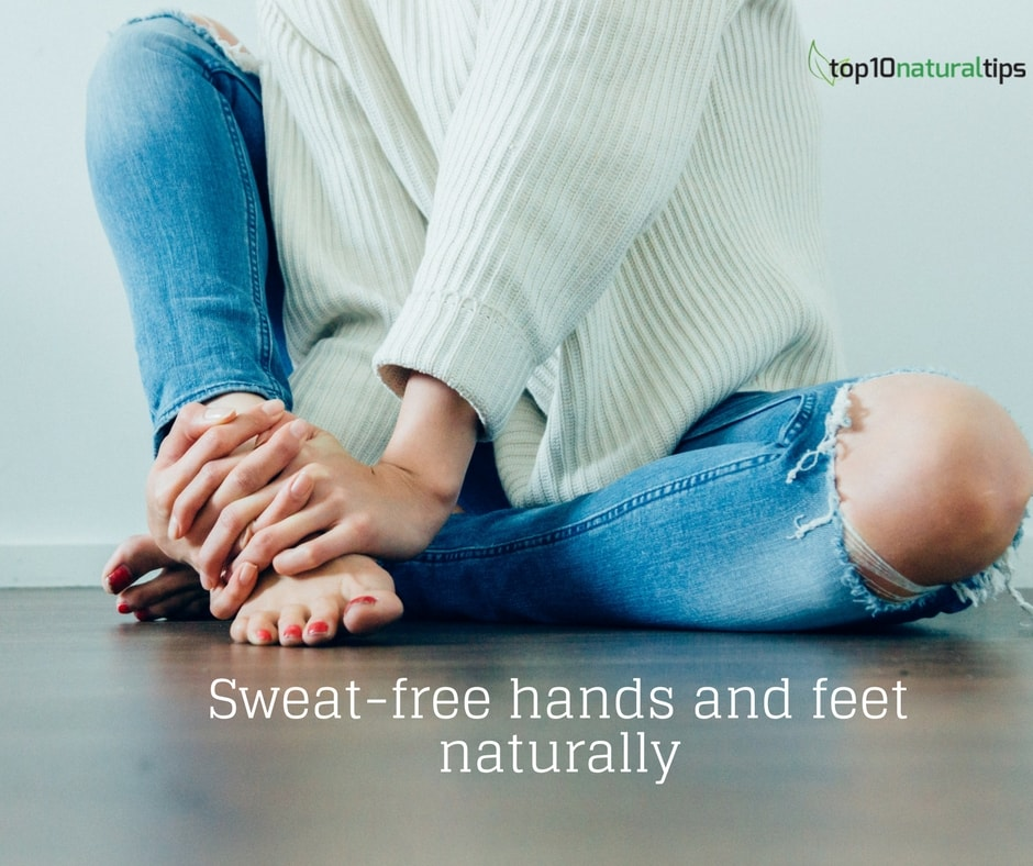 sweaty hands-feet natural remedy