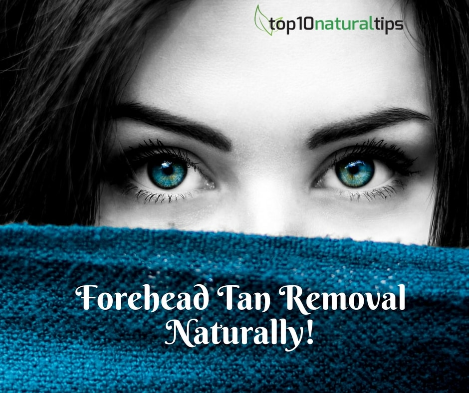 forehead tan removal