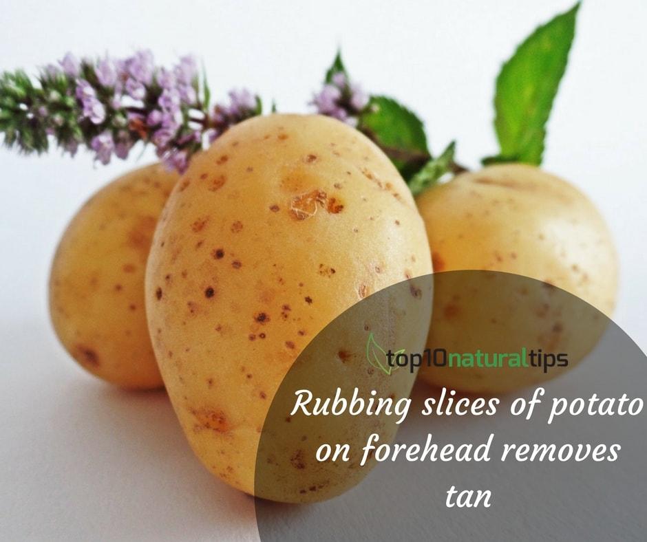 potato for tan removal