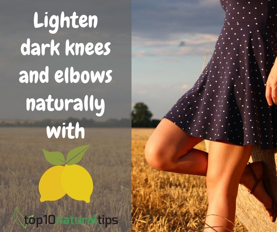 lemon to lighten dark knee and elbow