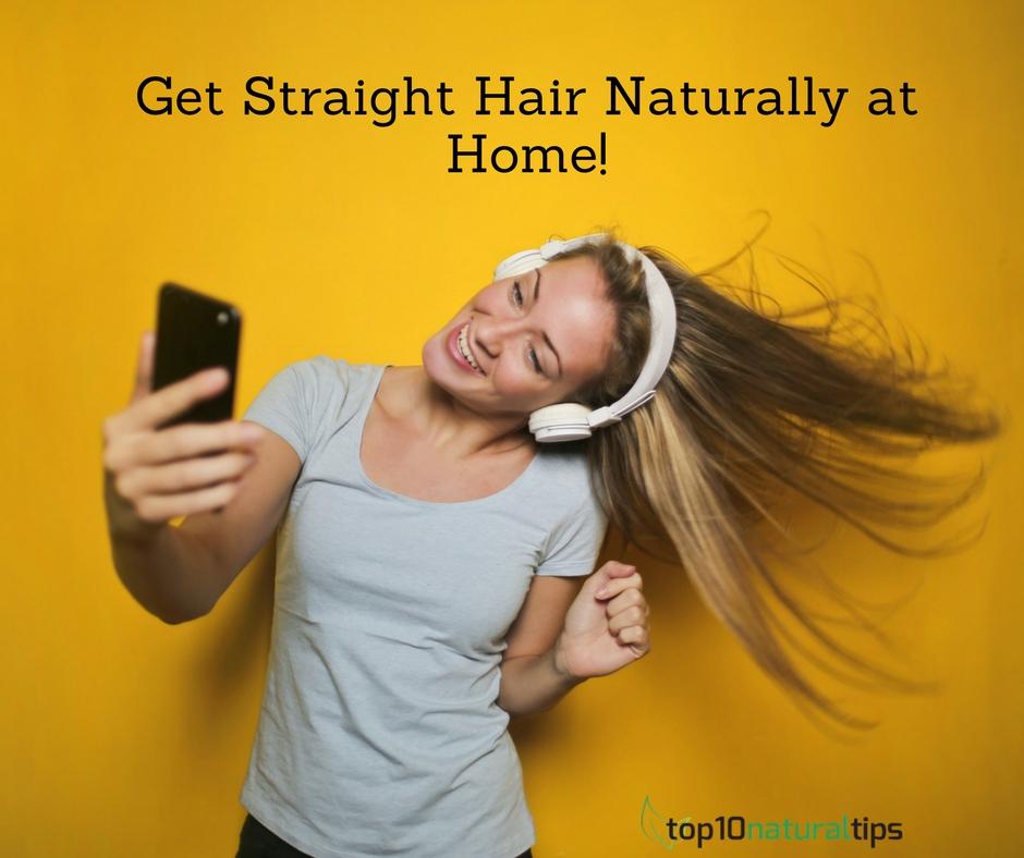 straight hair at home