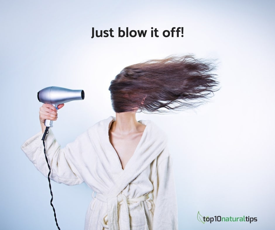 blow dry for greasy hair
