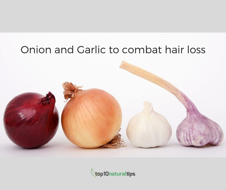 onion and garlic for hair loss