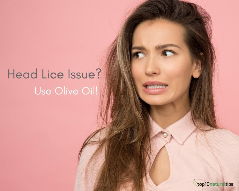 remove head lice with olive oil