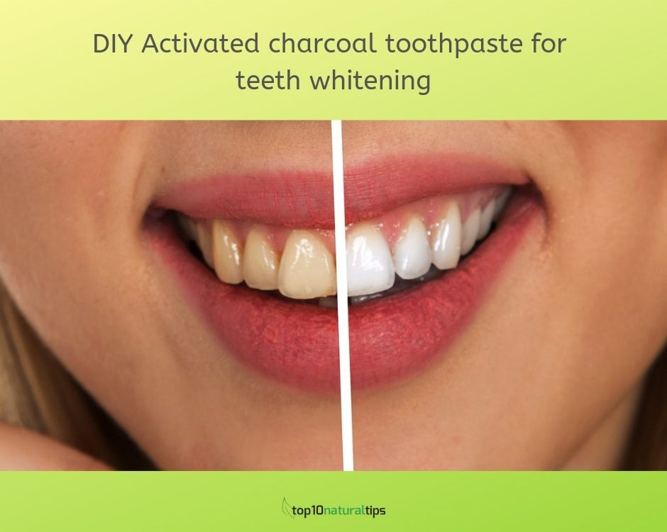 DIY Activated charcoal toothpaste for teeth whitening